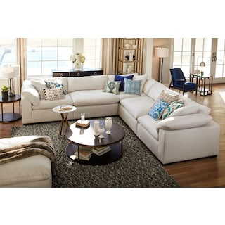 The Plush Sectional Collection - Anders Ivory