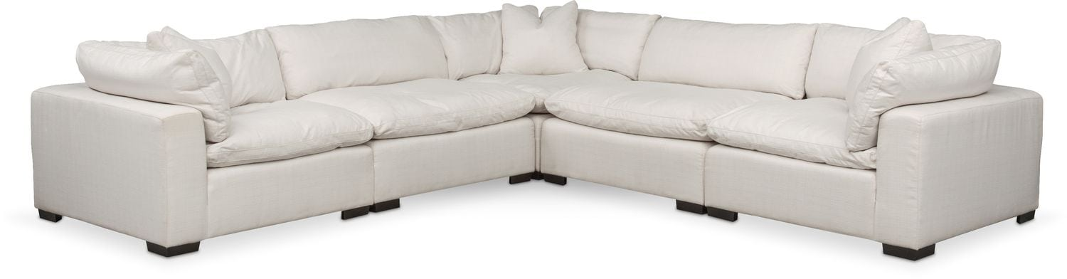Plush 5 Piece Sectional   Anders Ivory