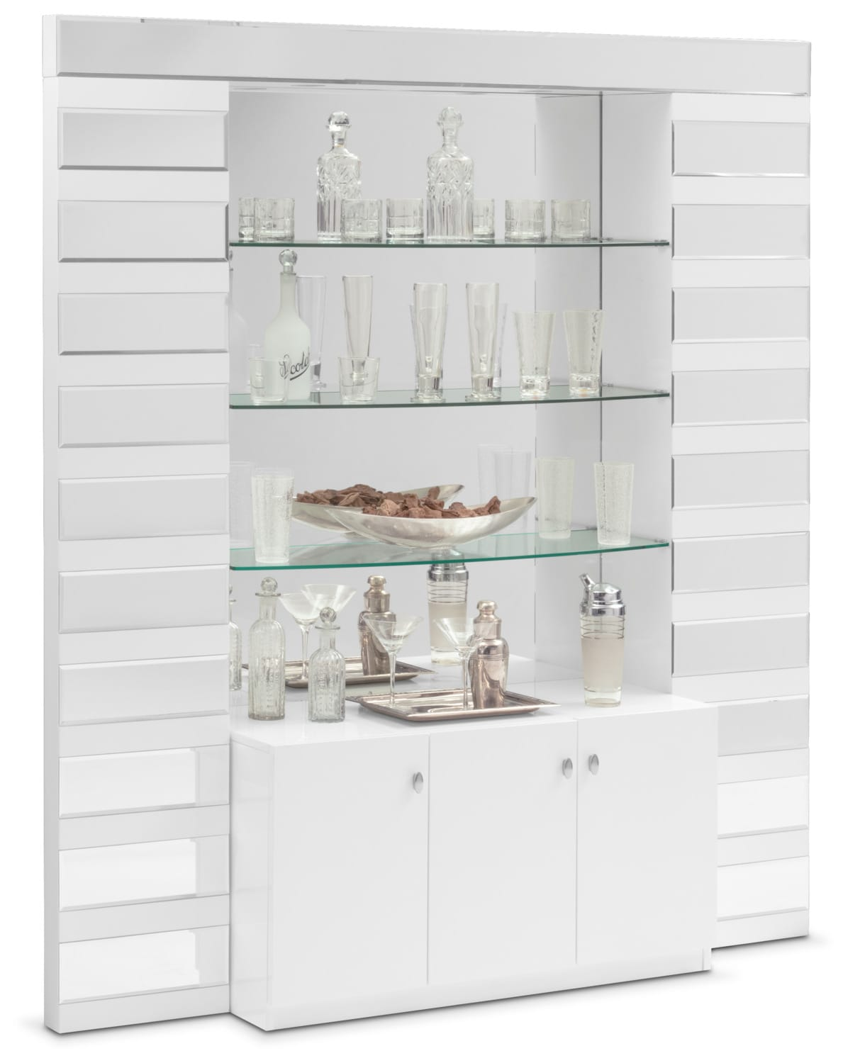 Dining Room Furniture - Spectra Wall Bar - White