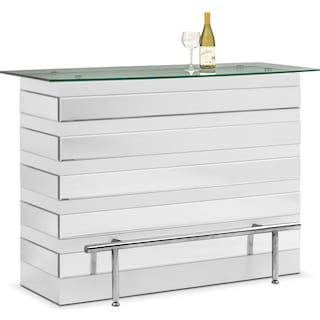 Spectra Bar - White and Mirror