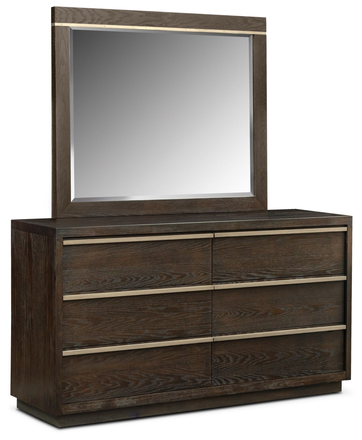 Gavin Dresser and Mirror - Brownstone