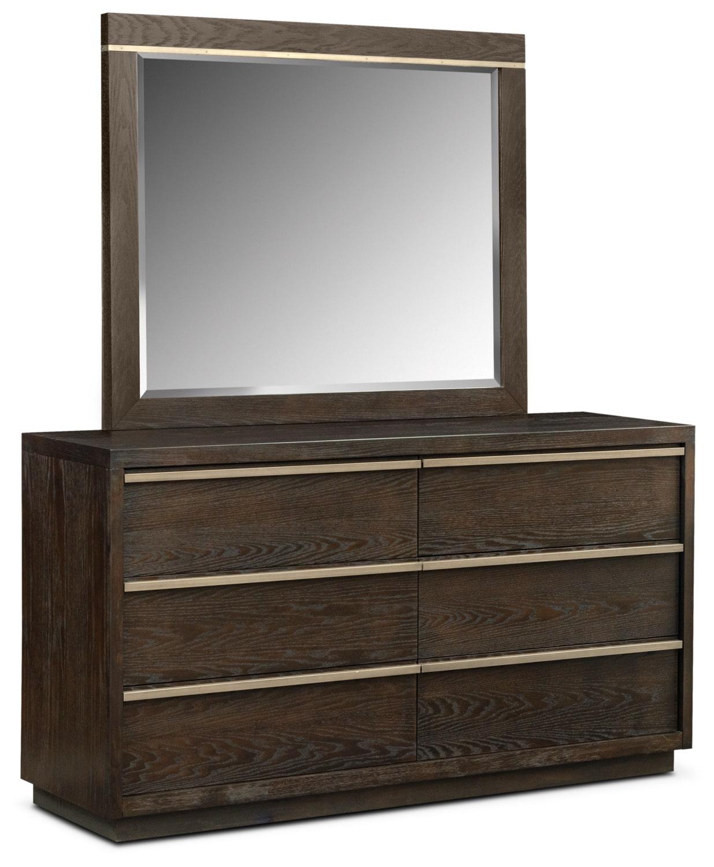 Gavin Dresser and Mirror - Brownstone