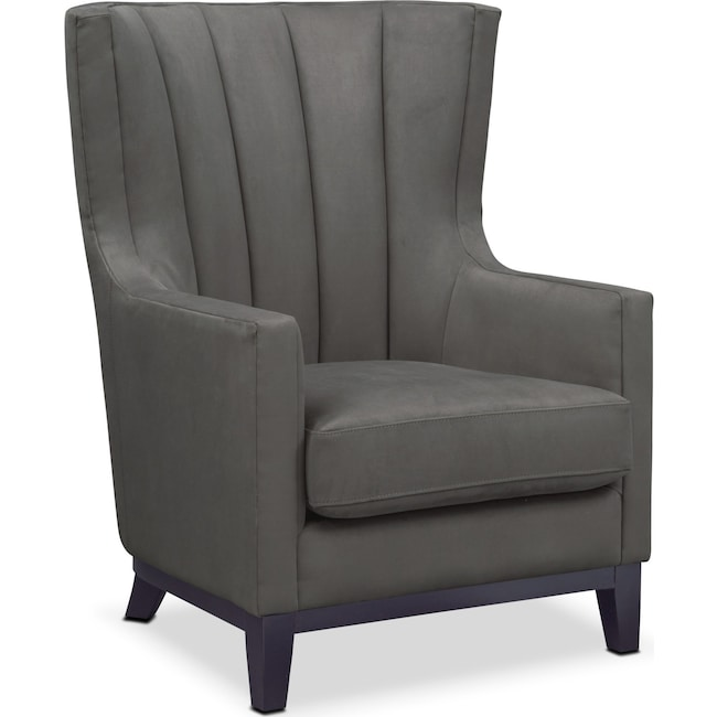 Living Room Furniture - Brianna Accent Chair - Dark Gray