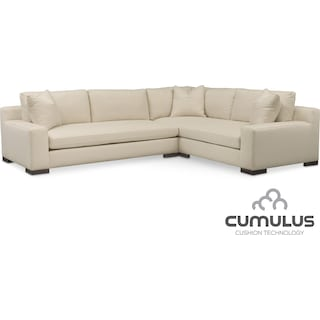 Ethan Cumulus 2-Piece Sectional with Left-Facing Sofa - Anders Cloud