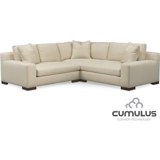 Ethan Cumulus 2-Piece Sectional with Left-Facing Loveseat - Anders Cloud