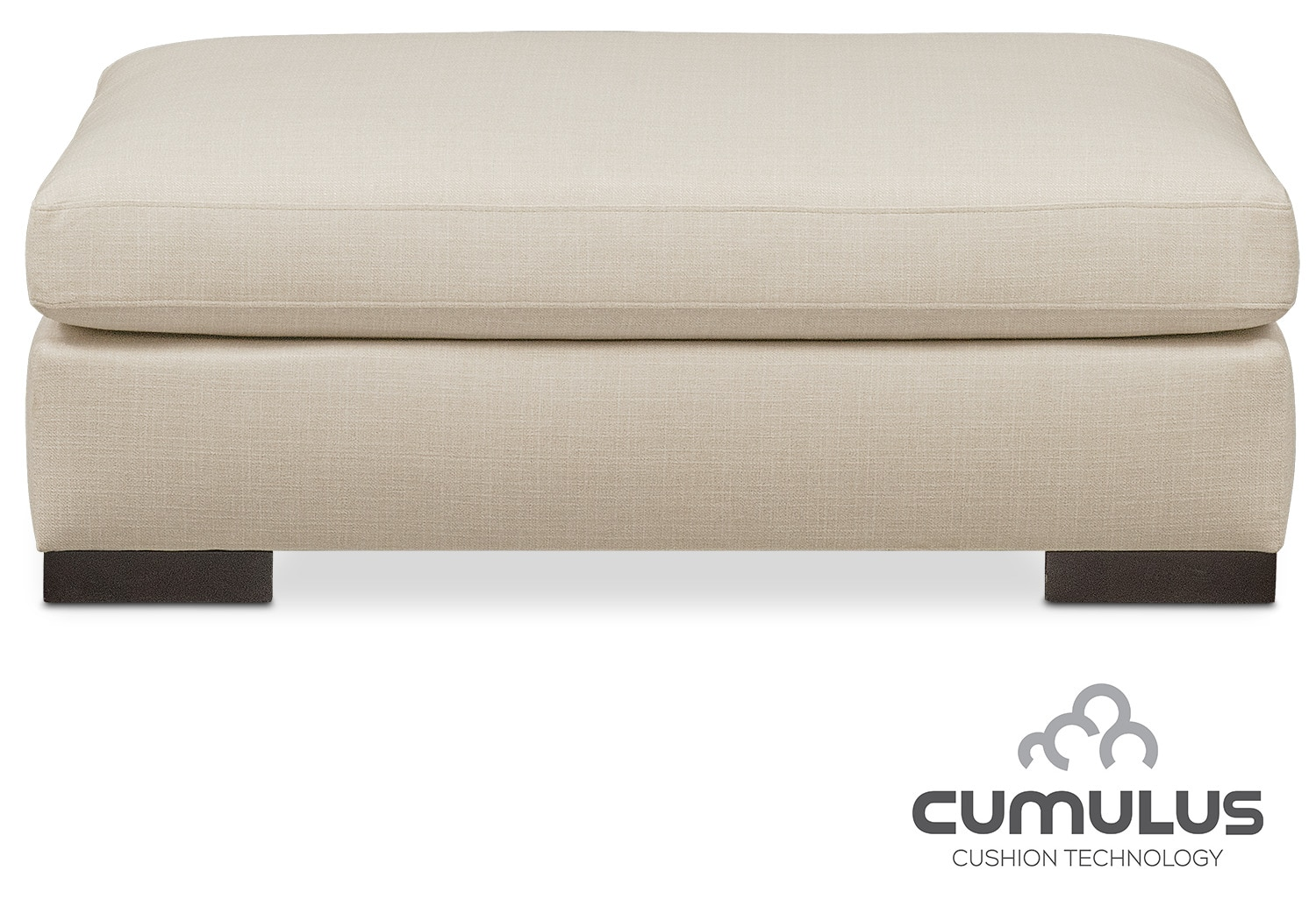 Living Room Furniture - Ethan Cumulus Ottoman - Cream