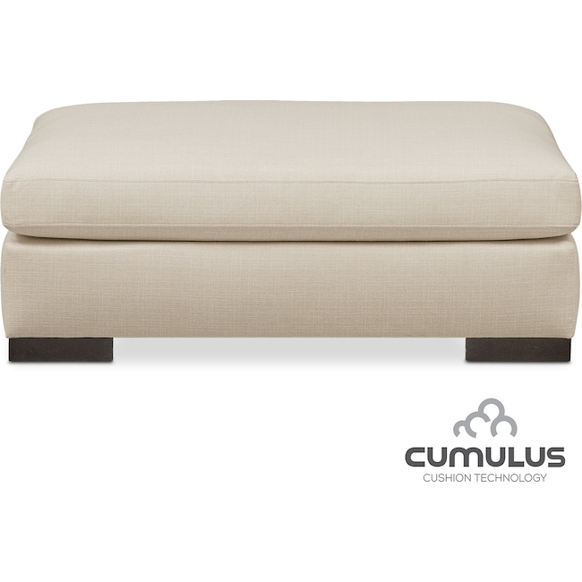 Living Room Furniture - Ethan Cumulus Ottoman - Anders Cloud