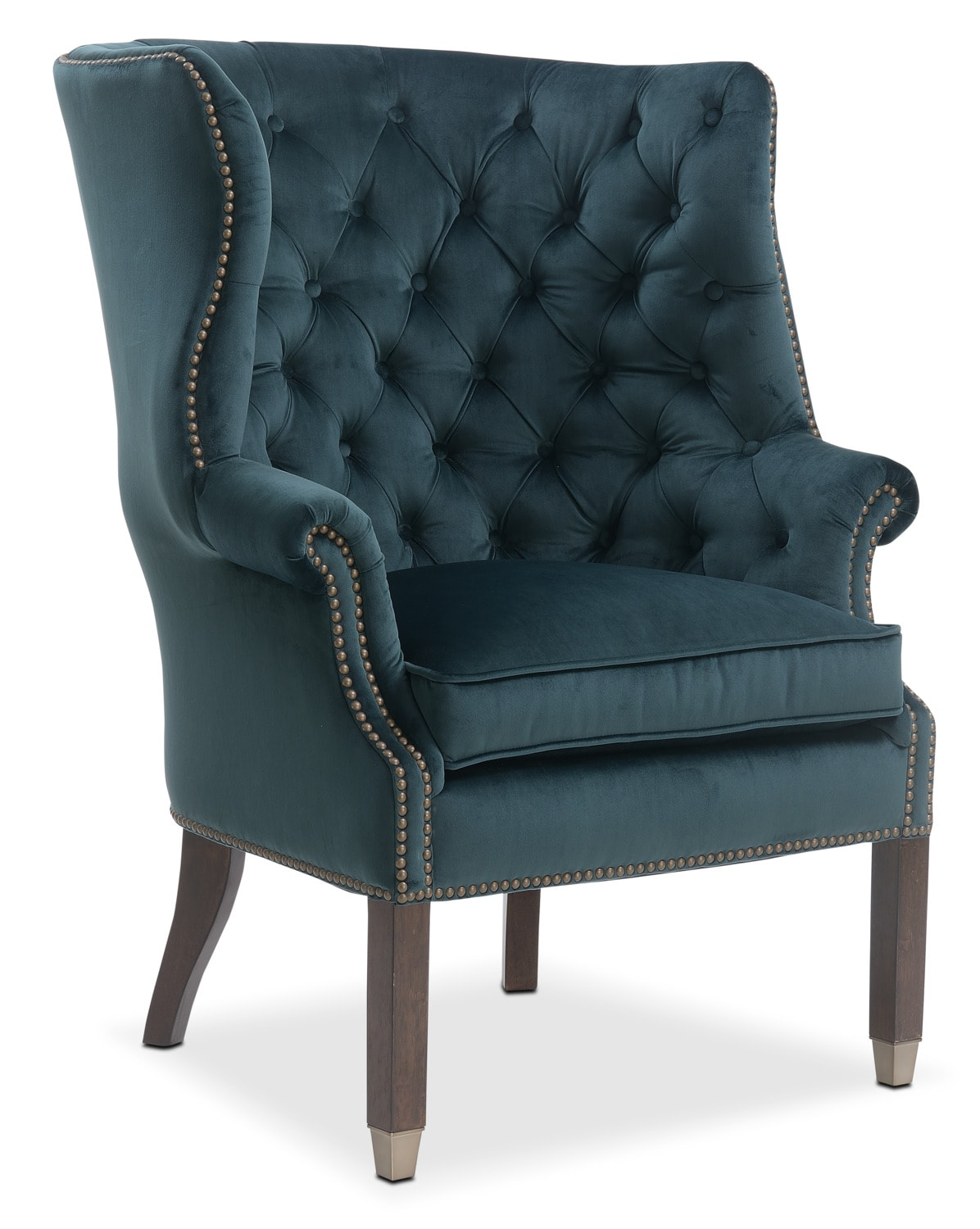 Living Room Furniture - Cranston Accent Chair - Emerald