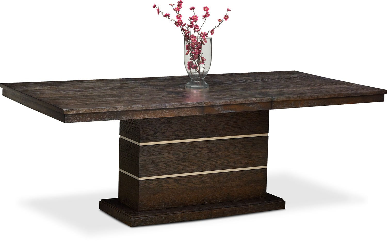 Gavin Pedestal Table - Brownstone
