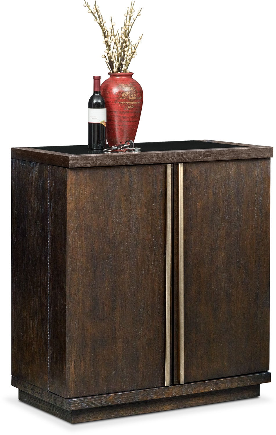 Dining Room Furniture - Gavin Wine Cabinet - Brownstone