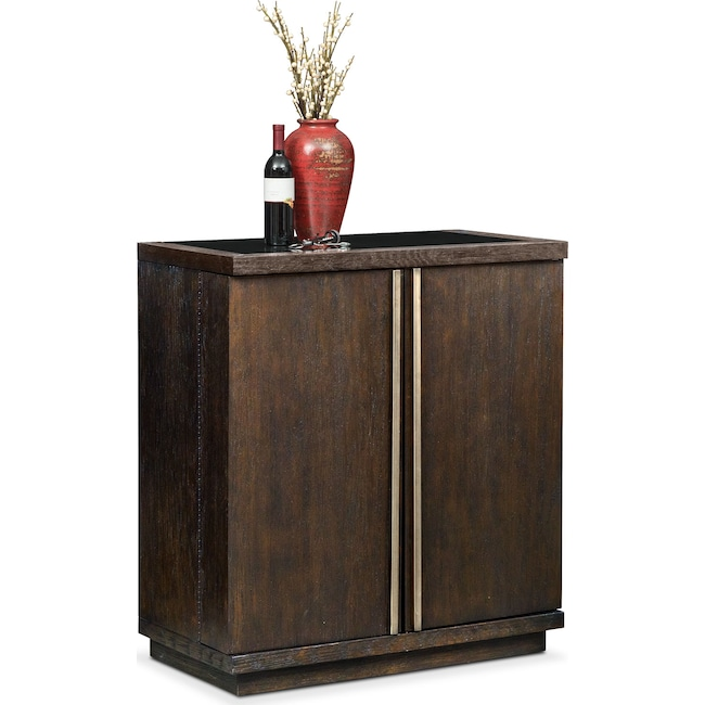 Accent and Occasional Furniture - Gavin Wine Cabinet - Brownstone
