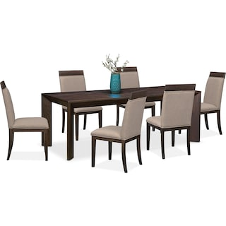 gavin table and 6 side chairs brownstone. Interior Design Ideas. Home Design Ideas