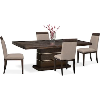Gavin Pedestal Table And 4 Side Chairs
