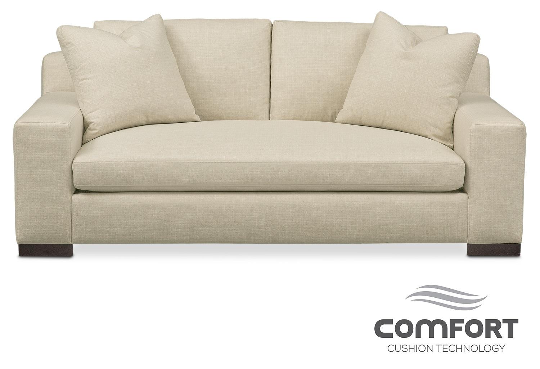 Living Room Furniture - Ethan Comfort Apartment Sofa - Cream