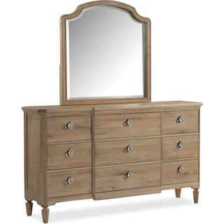 Regents Park Dresser and Mirror - Oak