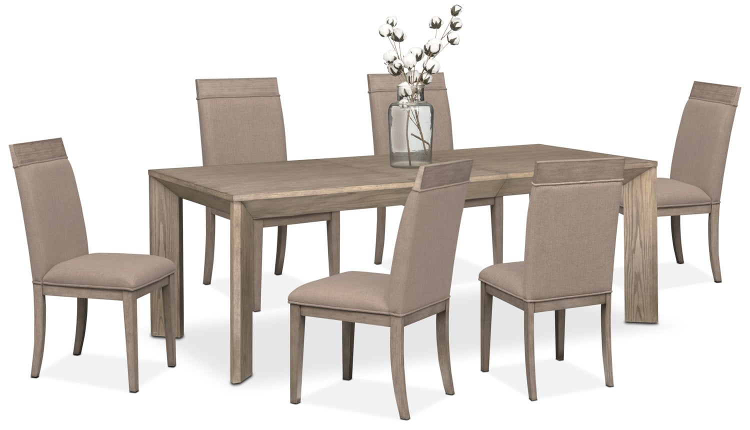 Gavin Table And 6 Side Chairs   Graystone
