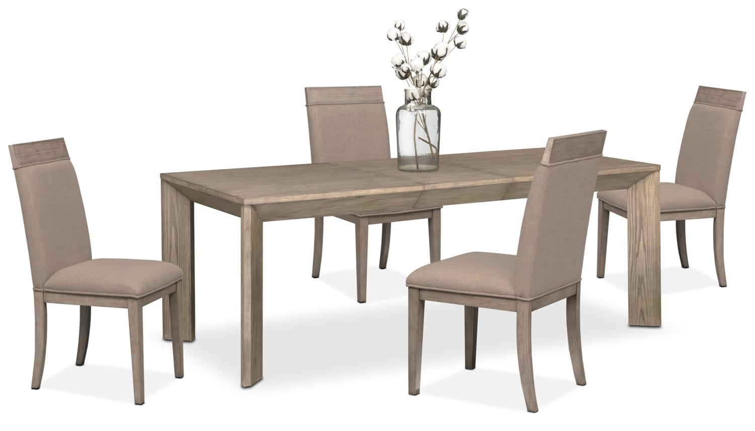 gavin table and 4 side chairs graystone value city furniture gavin table and 4 side chairs graystone