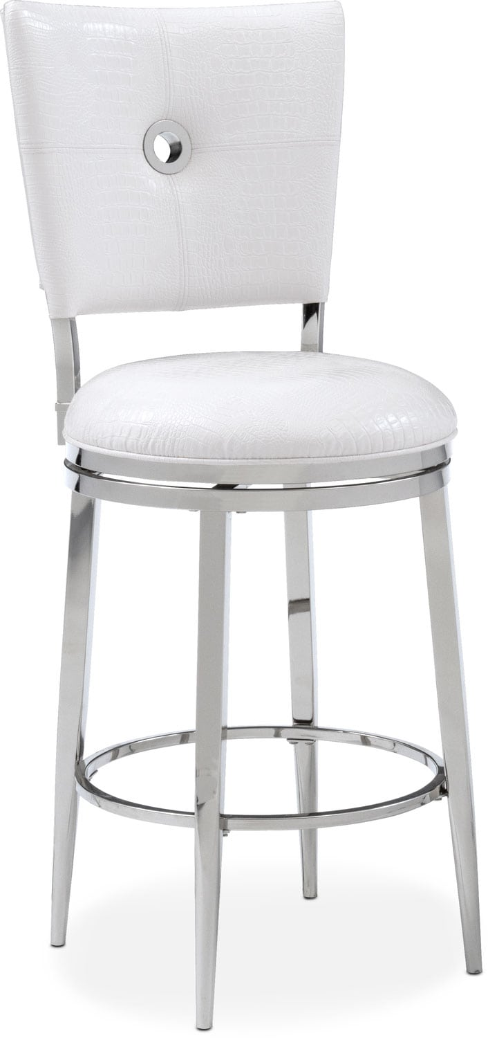 Debutante Counter Height Stool White Value City Furniture And Mattresses