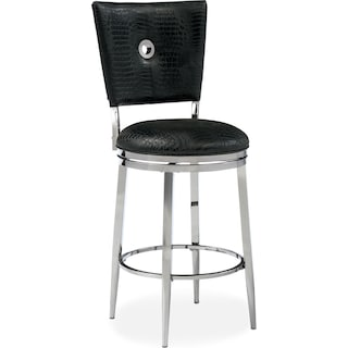 Debutante Counter-Height Stool - Black