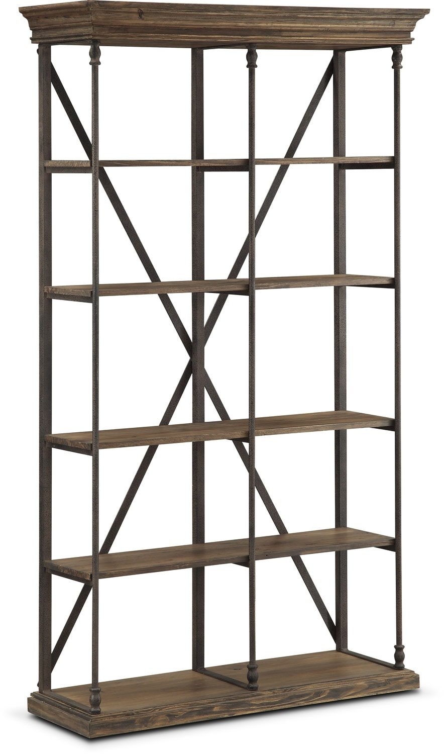 Home Office Furniture - Bedford Double Bookcase - Pine