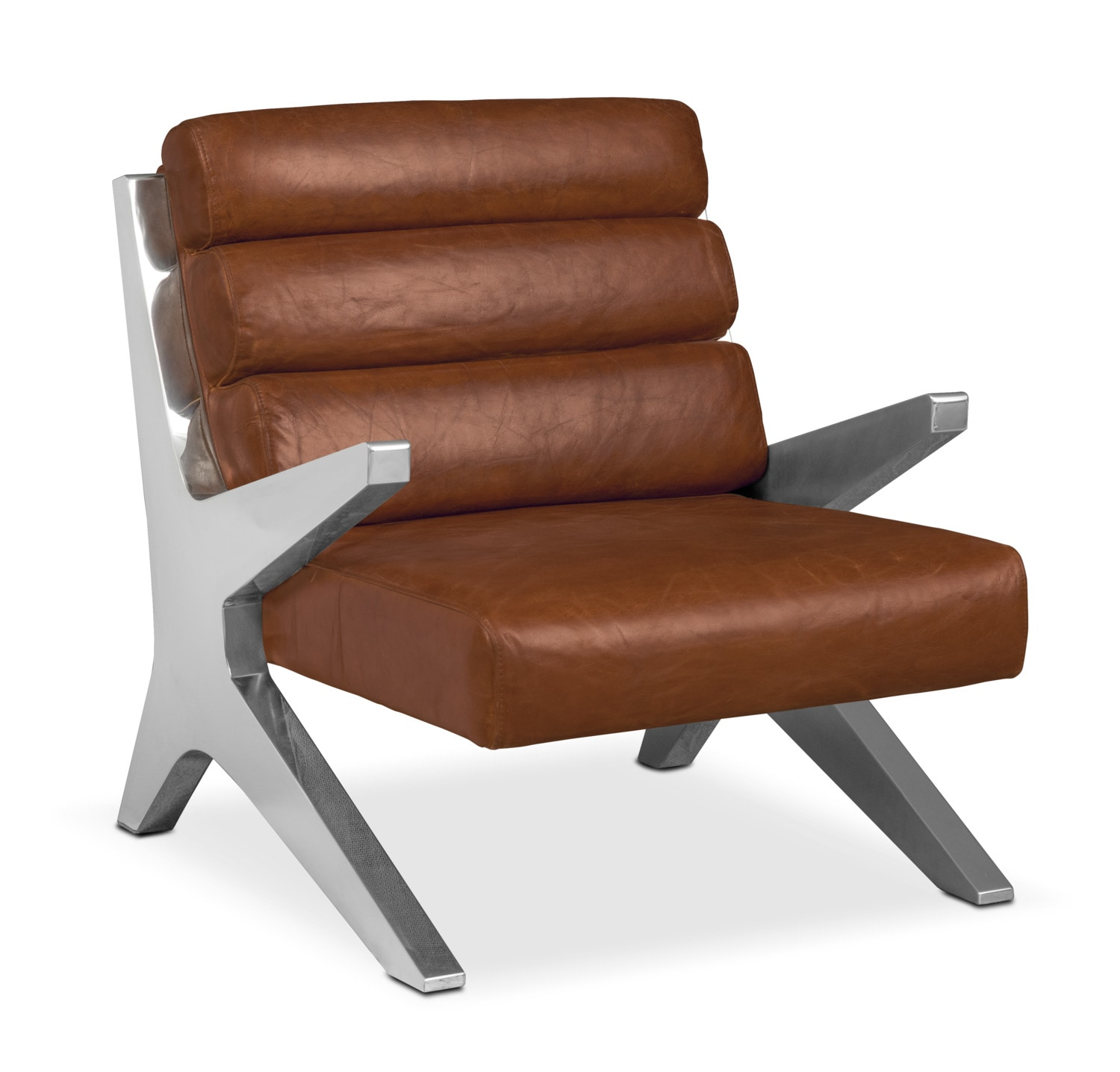 Living Room Furniture - Keanu Accent Chair - Brown