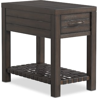 Brewer Chairside Table - Dark Oak