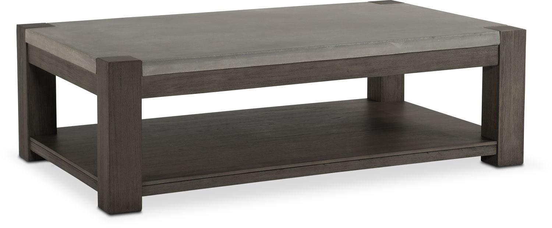 Kellen Rectangular Cocktail Table - Gray