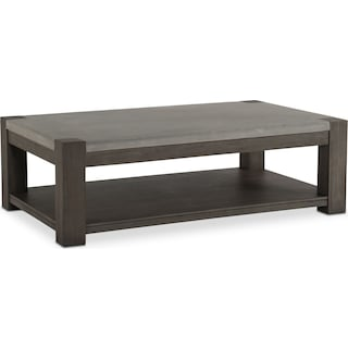 Kellen Rectangular Cocktail Table - Gray