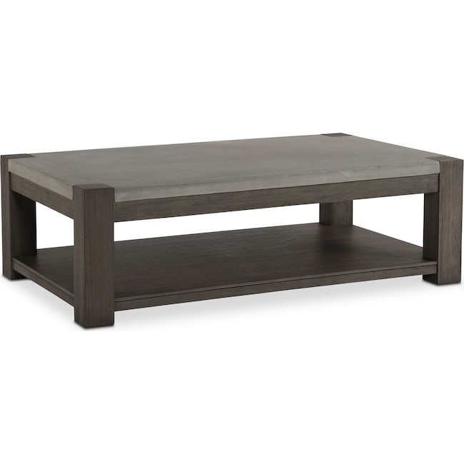 Accent and Occasional Furniture - Kellen Rectangular Cocktail Table - Gray