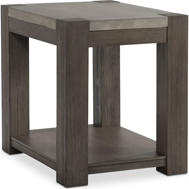 Accent and Occasional Furniture - Kellen Chairside Table - Gray