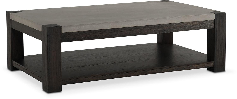 Kellen Rectangular Cocktail Table - Umber