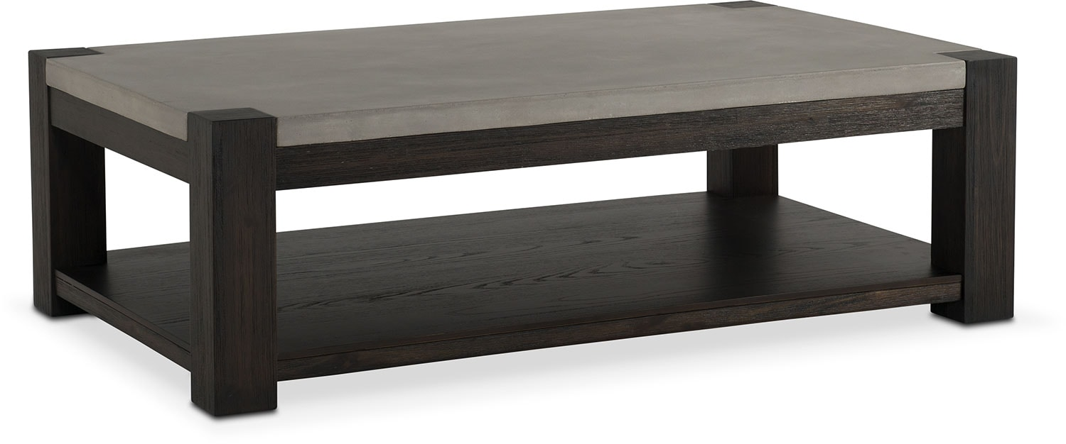 Accent and Occasional Furniture - Kellen Rectangular Cocktail Table - Umber