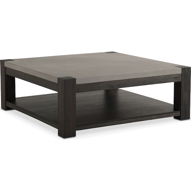 Accent and Occasional Furniture - Kellen Square Cocktail Table - Umber