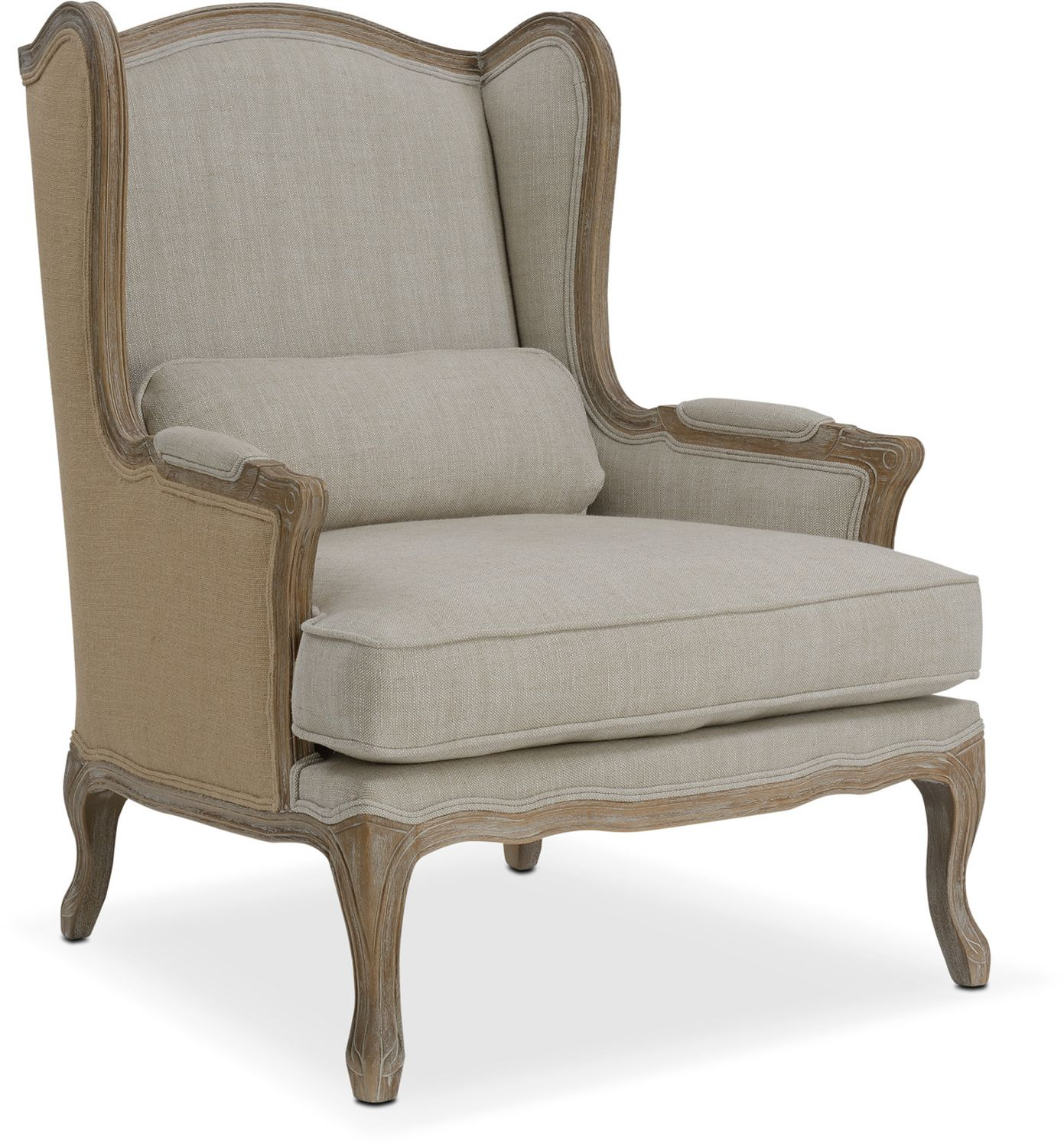 Living Room Furniture - Maria Accent Chair - Ivory