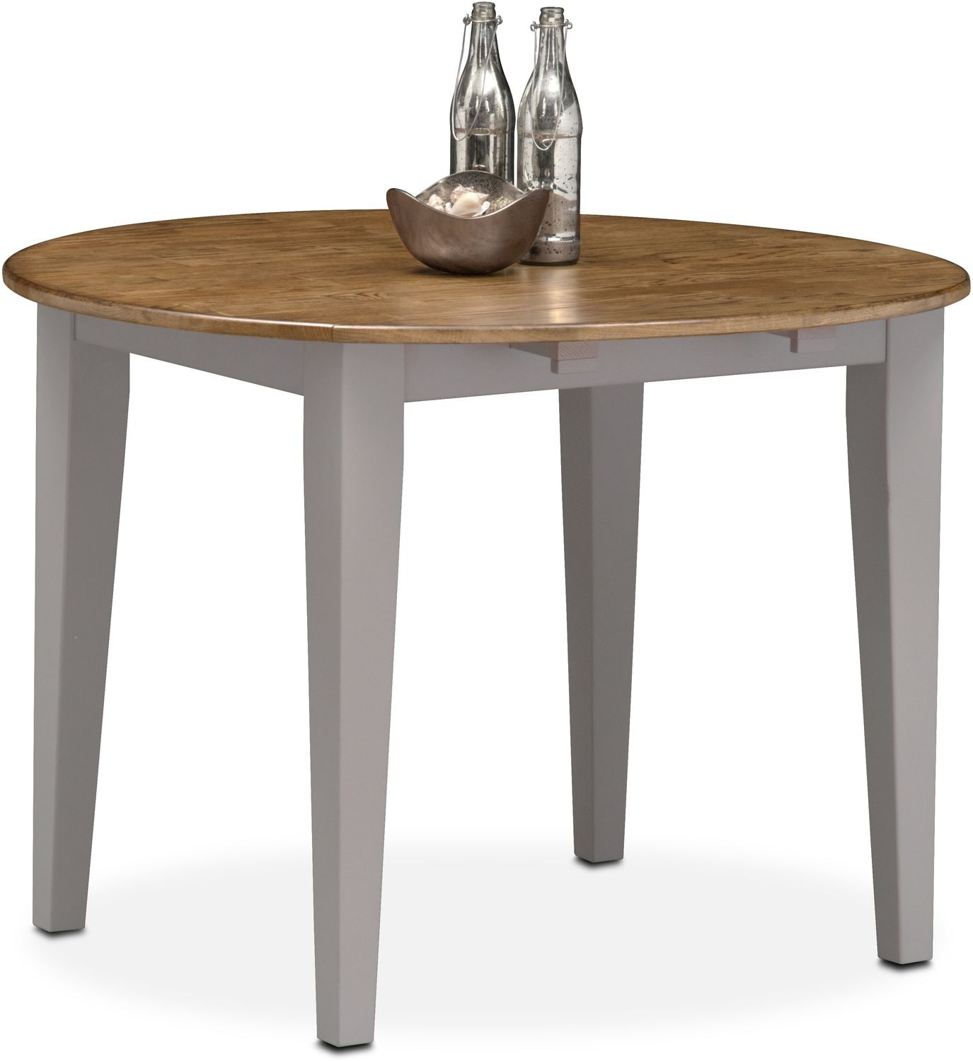 Nantucket Drop-Leaf Table - Oak and Gray