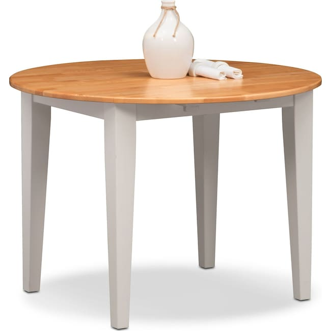 Dining Room Furniture - Nantucket Drop-Leaf Table - Maple and White