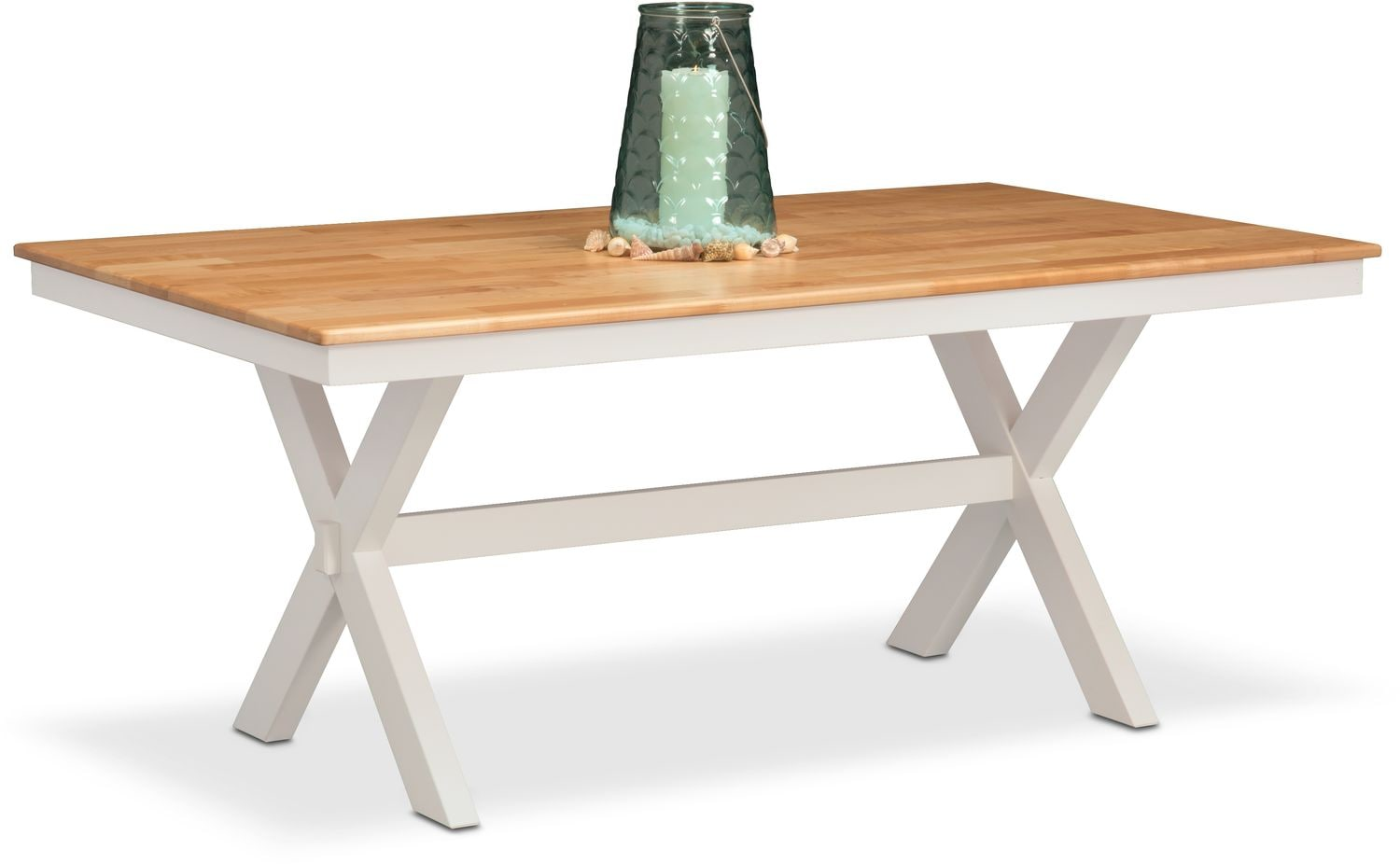 Image of item Nantucket Trestle Table - Maple and White  sc 1 st  Value City Furniture & Nantucket Trestle Table | Value City Furniture and Mattresses