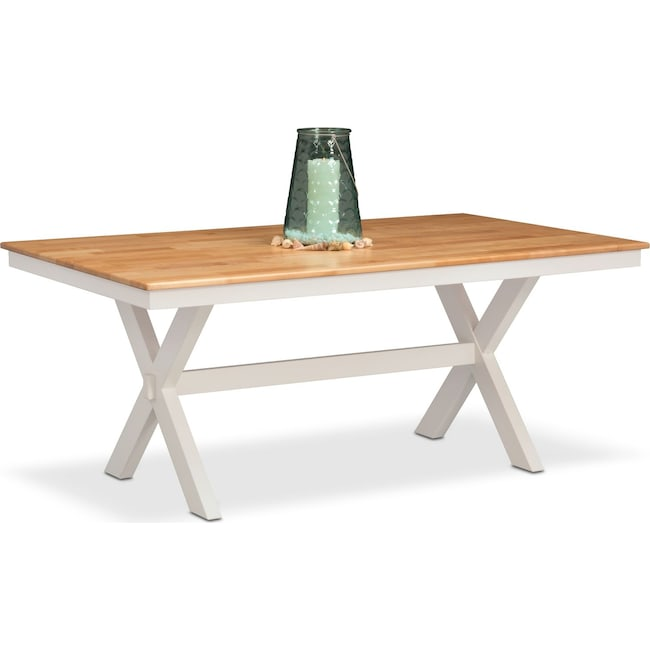 Dining Room Furniture - Nantucket Trestle Table - Maple and White