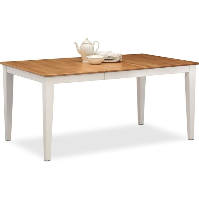 Dining Room Furniture - Nantucket Table - Maple and White