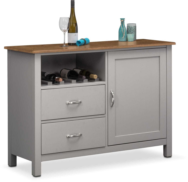 Nantucket Sideboard - Oak and Gray