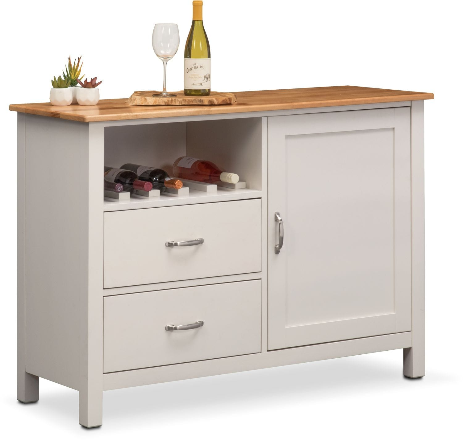 Delightful Dining Room Furniture   Nantucket Sideboard   Maple And White