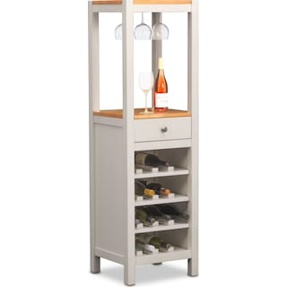 Nantucket Wine Cabinet - Maple and White