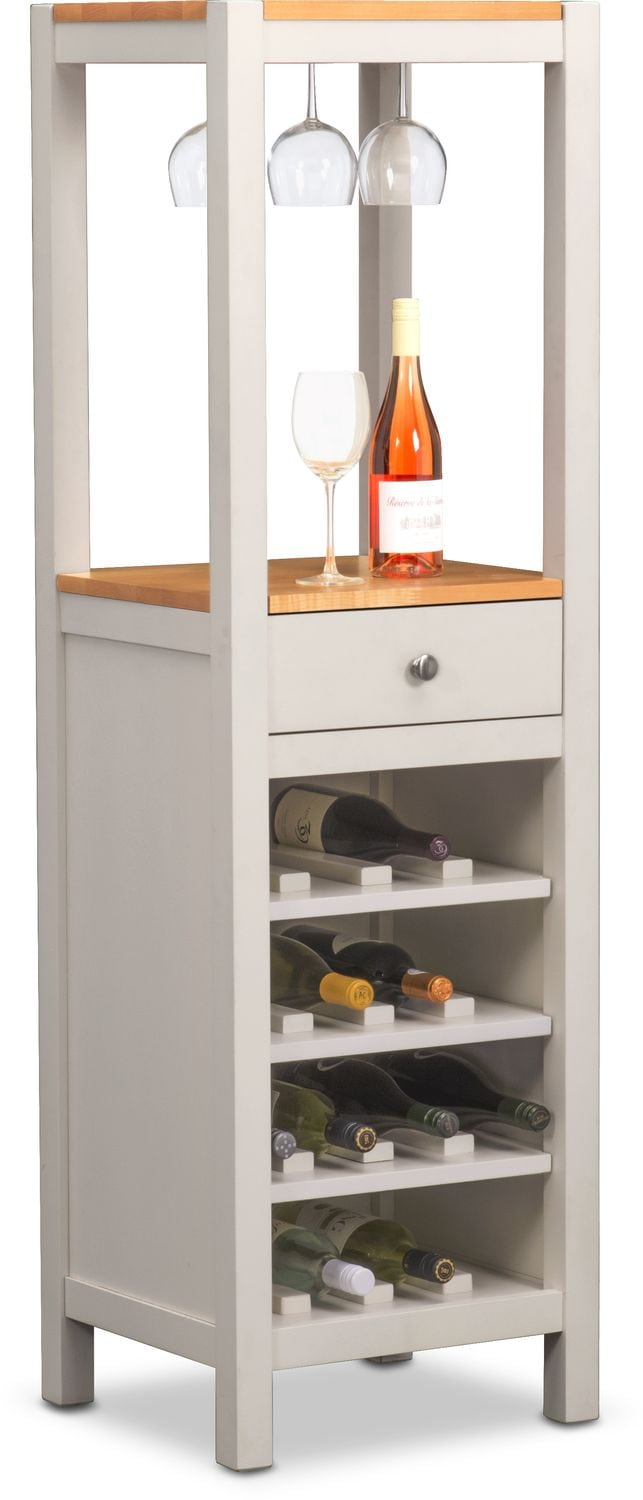 Dining Room Furniture   Nantucket Wine Cabinet   Maple And White