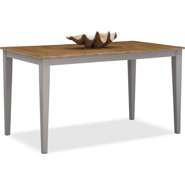 Dining Room Furniture - Nantucket Counter-Height Table - Oak and Gray