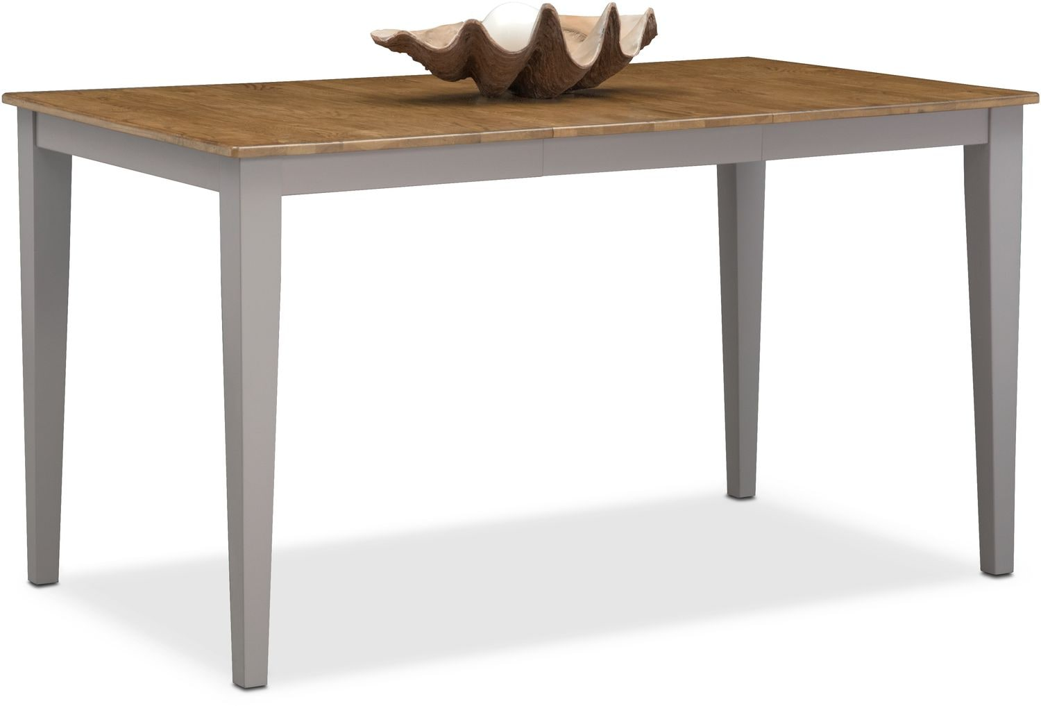 Nantucket Counter Height Table   Oak And Gray