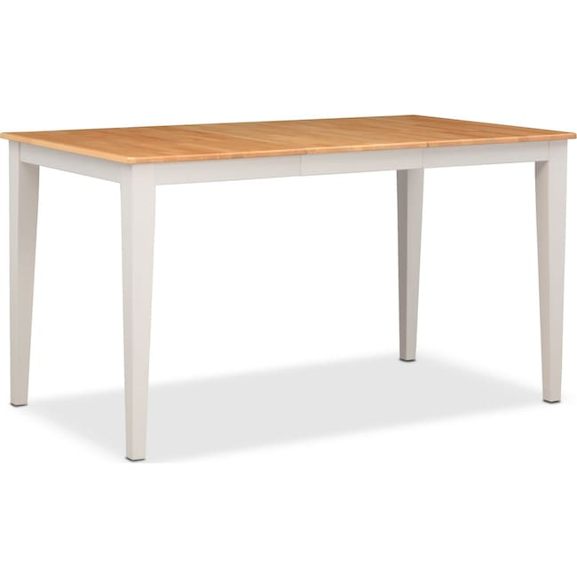 Dining Room Furniture - Nantucket Counter-Height Table - Maple and White
