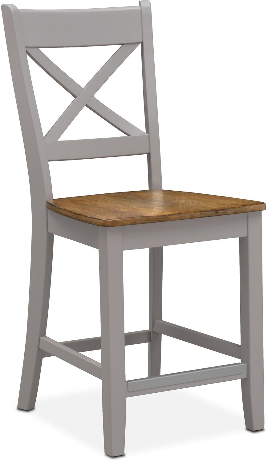 Dining Room Furniture - Nantucket Counter-Height Side Chair - Oak and Gray