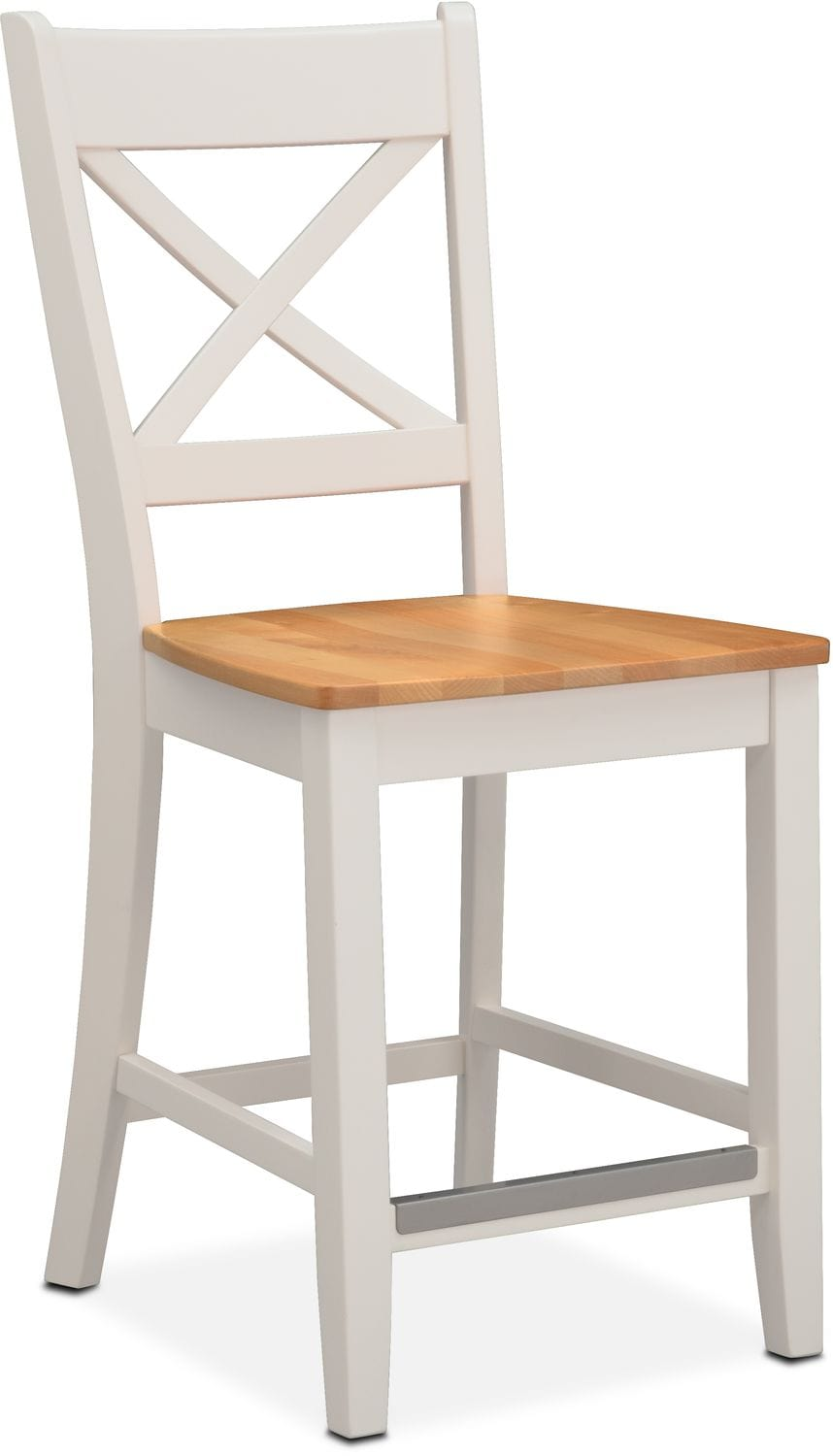 Nantucket Counter-Height Side Chair - Maple and White