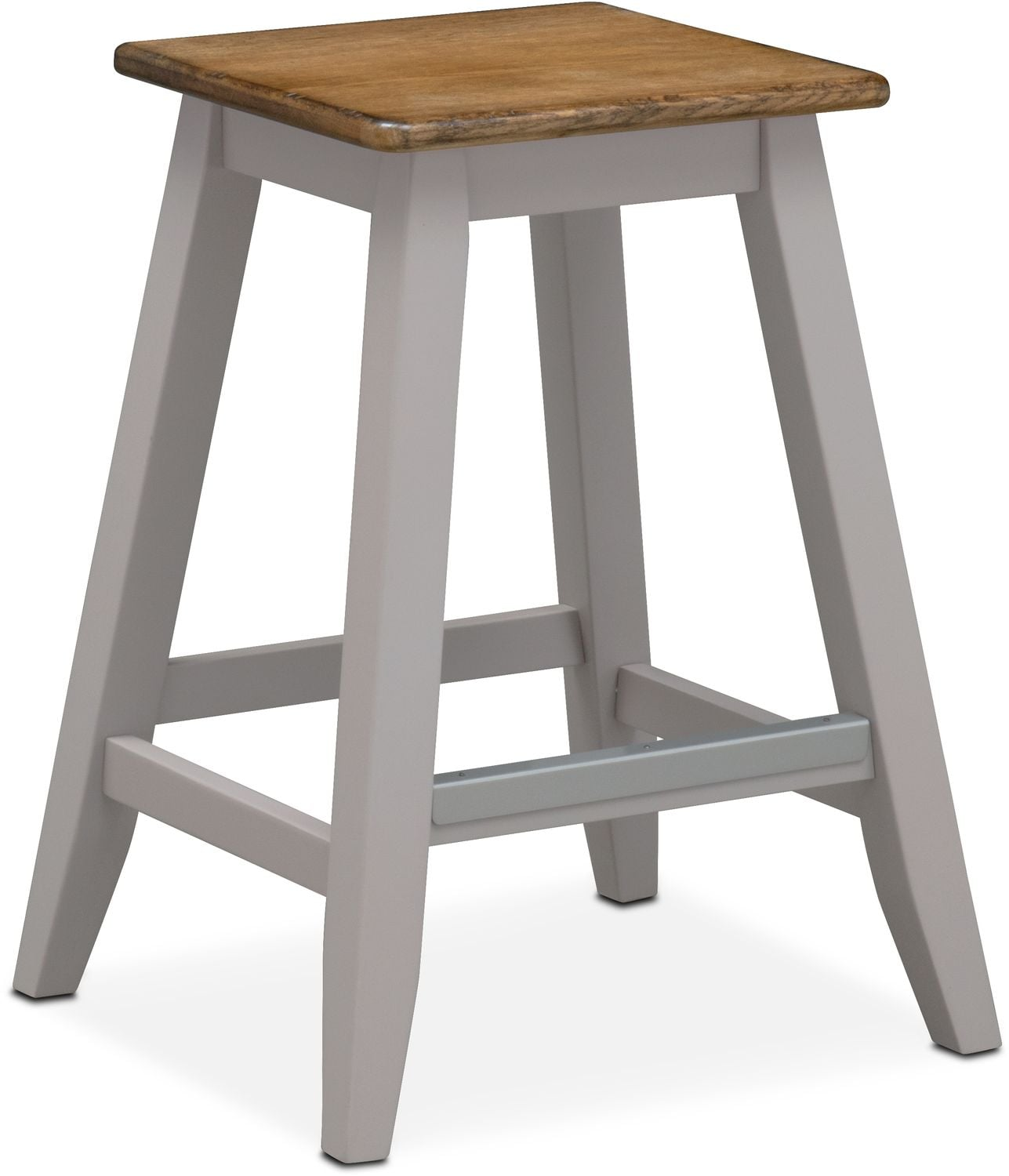 Nantucket Counter-Height Stool - Oak and Gray | Value City Furniture