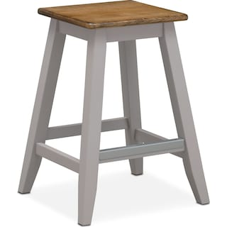 Nantucket Counter-Height Stool - Oak and Gray